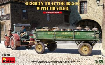 German Tractor D8506 with Trailer · MA 38038 ·  Mini Art · 1:35
