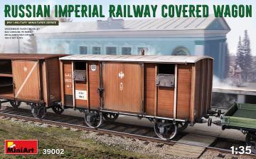 Russian Imperial Railway Covered Wagon · MA 39002 ·  Mini Art · 1:35
