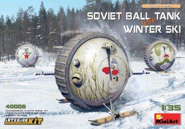 Soviet Ball Tank with Winter Ski - Interior Kit · MA 40008 ·  Mini Art · 1:35
