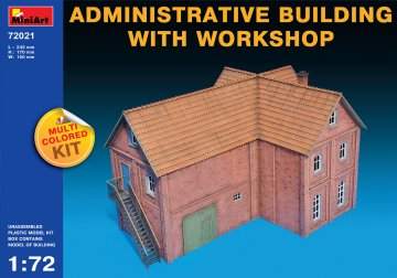 Administrative Building with Workshop · MA 72021  ·  Mini Art · 1:72