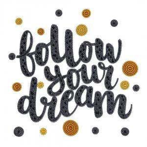 Follow your dream, Perlenstickset · MAC 33023 ·  Miniart Crafts