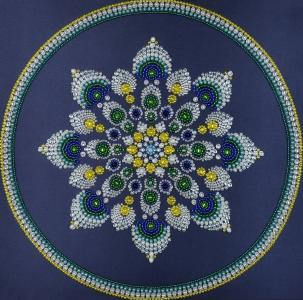 Mandala. Ausgabe 2, Perlenstickset · MAC 33302 ·  Miniart Crafts