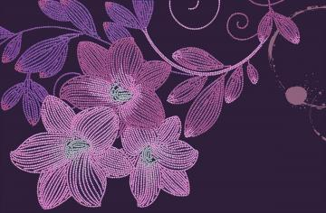 Lily Flowers, Perlenstickset · MAC 55034 ·  Miniart Crafts