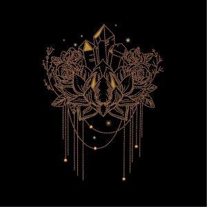 Golden Lotus, Perlenstickset · MAC 55036 ·  Miniart Crafts