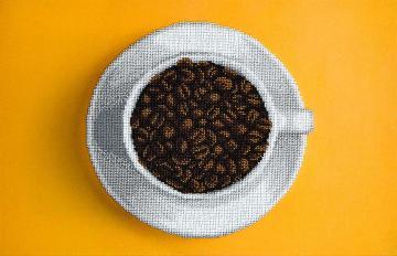 Tasse mit Kaffeebohnen Perlenstickset · MAC 99002 ·  Miniart Crafts