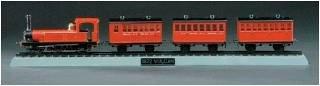 Vulcan Train 1872 mit Schienen und Gleisbett · MIN 11103 ·  Minicraft Model Kits · 1:45