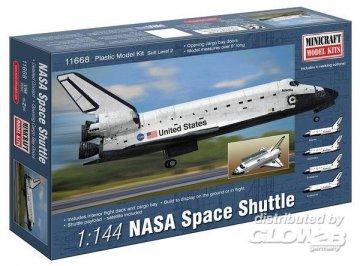 NASA Space Shuttle · MIN 11668 ·  Minicraft Model Kits · 1:144