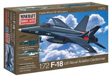 F-18 USN Bicentennial w/2 marking option · MIN 11673 ·  Minicraft Model Kits · 1:72