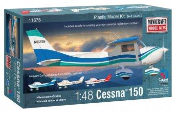 Cessna 150 · MIN 11675 ·  Minicraft Model Kits · 1:48