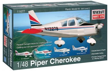 Piper Cherokee · MIN 11677 ·  Minicraft Model Kits · 1:48
