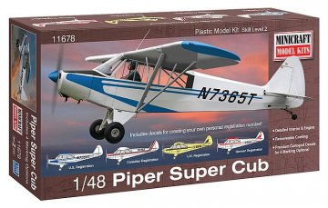 Piper Super Cub · MIN 11678 ·  Minicraft Model Kits · 1:48