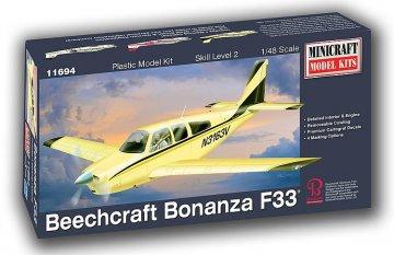 Beechcraft Bonanza F-33 · MIN 11694 ·  Minicraft Model Kits · 1:48