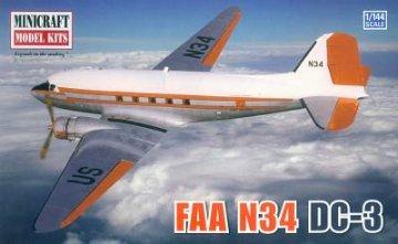 FAA N-34 / DC-3 · MIN 14583 ·  Minicraft Model Kits · 1:144