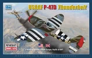 P-47D Tunderbolt · MIN 14596 ·  Minicraft Model Kits · 1:144