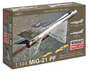 MIG 21 (2 marking/decal options) · MIN 14677 ·  Minicraft Model Kits · 1:144