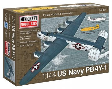 PB-4Y USN/RAF w/2 marking options · MIN 14687 ·  Minicraft Model Kits · 1:144