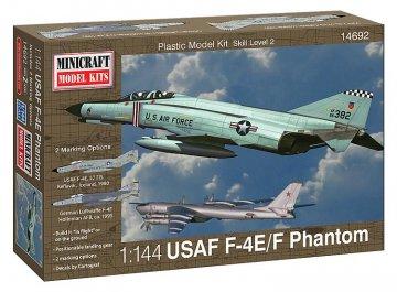 F-4E Phantom ADC/RAF w/2 marking opt. · MIN 14692 ·  Minicraft Model Kits · 1:144