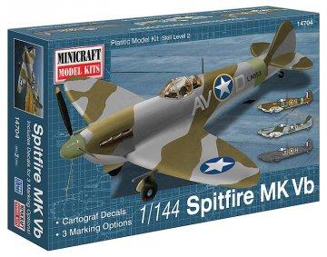 Spitfire Vb USAAF/RAF · MIN 14704 ·  Minicraft Model Kits · 1:144