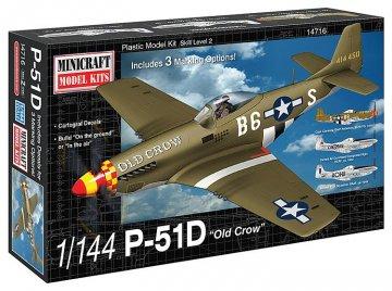 P-51D USAAF · MIN 14716 ·  Minicraft Model Kits · 1:144