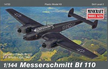 Messerschmitt Me Bf 110 · MIN 14720 ·  Minicraft Model Kits · 1:144