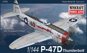 P-47D USAAF · MIN 14722 ·  Minicraft Model Kits · 1:144