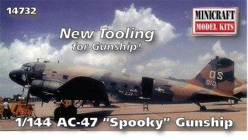 AC 47D Spooky · MIN 14732 ·  Minicraft Model Kits · 1:144