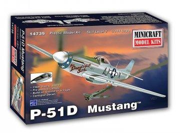 P51D · MIN 14739 ·  Minicraft Model Kits · 1:144