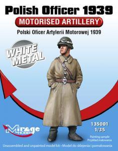 Polish Officer 1939 Motorised Artillery White Metal · MG 135001 ·  Mirage Hobby · 1:35