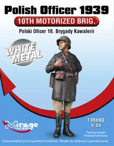 Polish Officer 1939´10th Motorised Brig. White Metal · MG 135002 ·  Mirage Hobby · 1:35