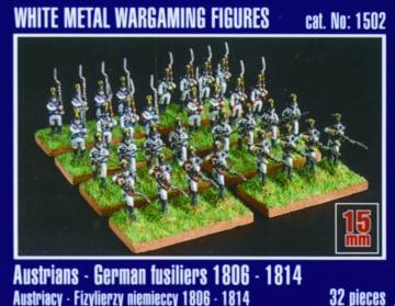 Österreichisch-deutsche Füsiliere 1806-1814 · MG 1502 ·  Mirage Hobby · 1:120