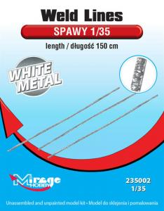 Weld Lines sc.1/35 Length:150cm (White Metal) · MG 235002 ·  Mirage Hobby · 1:35