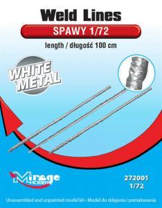 Weld Lines sc.1/72 length:100cm (White Metal) · MG 272001 ·  Mirage Hobby · 1:72