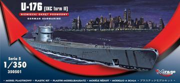 German Submarine U-176 (IXC turm II) · MG 350501 ·  Mirage Hobby · 1:350