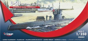 German U-Boot U-511 - IX C (turmI+WGr42) · MG 350502 ·  Mirage Hobby · 1:350