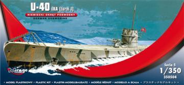 U-40 IXA (Turm i) German Submarine · MG 350504 ·  Mirage Hobby · 1:350