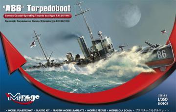 A 86 German Torpedoboat A/III Class · MG 350505 ·  Mirage Hobby · 1:350