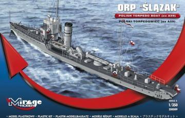 ORP Slazak Polish Torpedo Boat (ex A59) · MG 350509 ·  Mirage Hobby · 1:350