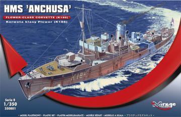 HMS Anchusa Flower-Class Corvette K186 · MG 350801 ·  Mirage Hobby · 1:350