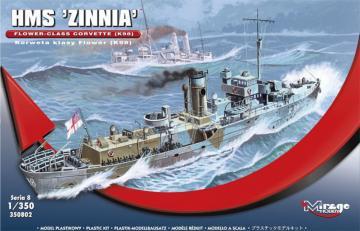 HMS Zinnia Flower-Class Corvette K98 · MG 350802 ·  Mirage Hobby · 1:350