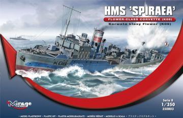 HMS SPIRAEA Flower-Class Corvette (K08) · MG 350803 ·  Mirage Hobby · 1:350
