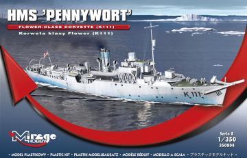 HMS PENNYWORT Flower-Class Corvette K111 · MG 350804 ·  Mirage Hobby · 1:350