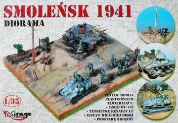 Diorama Smolensk, Russland 1941 · MG 35102 ·  Mirage Hobby · 1:35