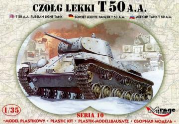 Leichter Panzer T 50 A.A mit Fotoätzteilen · MG 35106 ·  Mirage Hobby · 1:35