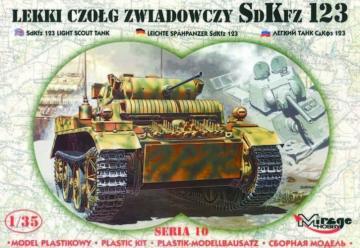SdKfz. 123 mit Fotoätzteilen · MG 35108 ·  Mirage Hobby · 1:35