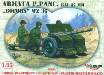 37 mm BOFORS Panzerabwehrkanone · MG 35212 ·  Mirage Hobby · 1:35