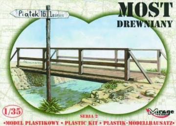 Holzbrücke mit Geländer und Wegweiser · MG 35220 ·  Mirage Hobby · 1:35