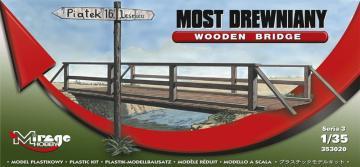 Holzbrücke mit Geländer und Wegweiser · MG 353020 ·  Mirage Hobby · 1:35
