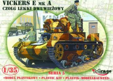 Leichter Panzer Vickers E Mk A Limited Edition · MG 35303 ·  Mirage Hobby · 1:35