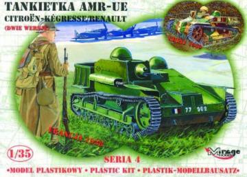 Französische Tankette AMR UE · MG 35306 ·  Mirage Hobby · 1:35