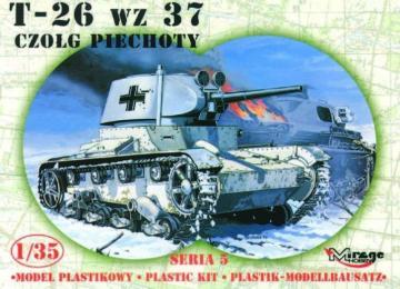 Deutscher Beutepanzer T-26 1937 · MG 35308 ·  Mirage Hobby · 1:35